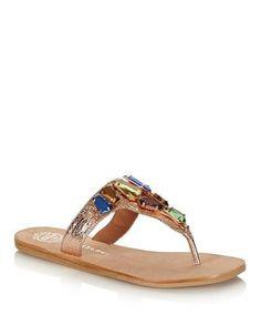 Sirda+rose+gold+jewel+sandals+by+Jeffrey+Campbell+on+secretsales.com