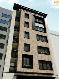 Modern Architecture Building Apartments – My Ideas Residential Building Design, Modern Residential Architecture, Architecture Building Design, Brick Architecture, Cultural Architecture, Building Exterior, Building Facade, Facade Design, Building Elevation