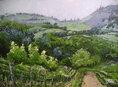 Tuscan Vinyard Painting Painting  - Tuscan Vinyard Painting Fine Art Print