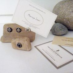 Card keepers made of driftwood. Design by Marusya Jermi