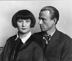 The Painter Otto Dix and his wife, Martha, 1925-1926. Photo by August Sander.