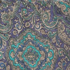Turquoise purple Paisley, hmm love this one too. Love turquoise at the moment!