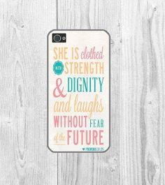 iPhone 5 case-iPhone 5c case-Rubber iPhone case-Proverb iPhone case-Quote iPhone case, gift- pretty- Bible - Biblical Proverb iphone - 31:25 on Etsy, $10.00