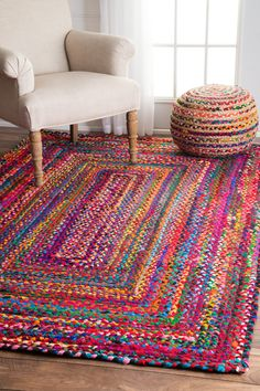 Hand Braided Tammara Rug - Multi by nuLOOM for the kitchen!