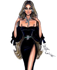 Hayden Williams Fashion Illustrations | 'Priceless Perfection' by Hayden Williams