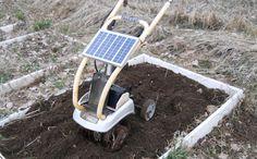 DIY solar tiller