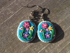 Kathy Spring Flowers Polymer Clay Earrings by FlowertownOriginals, $8.00
