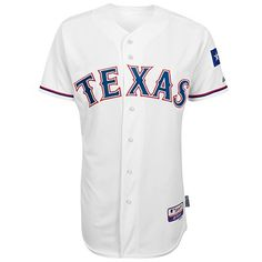 Majestic Athletic  Official Store, Cool Base® Authentic On-Field Home Jersey - Texas Rangers, white rangers home, Texas Rangers, 6300-RAN1-TER-AC1