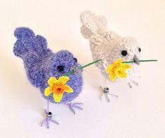 Thank you bird miniature crochet bird ♡ by FreshlyKnittedThings