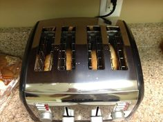 #DayofFirsts #FirstToast in new toaster...complete with new toaster smell! Mmm! pic.twitter.com/GsAHHXW6