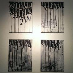 """""""Still just writing my name"""" Rauminstallation, Kalligrafie und Malerei von Patrick Hartl"""