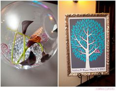 Wedding tree guest book alternative in action! Beautiful photos by: carleajphotography.com