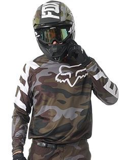 Fox Racing 180 Camo Men's Off-Road Motorcycle Jerseys - Green Camo / Medium Bmx, Motocross Gear, Atv Gear, Dirt Bike Gear, Motorcycle Gear, Dirt Biking, Motard Sexy, Camo Men, Road Bike Women