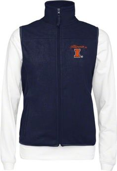 Illinois Fighting Illini Women's Wind Vest/Long Sleeve Mockneck Combo Pack by Colosseum. $54.99. Prepare for those cool days at the tail gate and the stadium with this Illinois Fighting Illini Women's Wind Vest/Long Sleeve Mockneck Combo Pack. A team color sleeveless vest with embroidered team logo and wordmark provides a layer of warmth with its polyester makeup. Underneath you can wear the all-cotton mock turtleneck long sleeve white t-shirt with team logo embroidered on the...