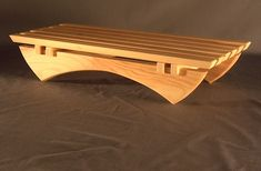 Blonde wood, architectural stand