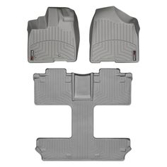 """WeatherTech 46300-1-4 Series Grey Front and Rear FloorLiner - FloorLiner(TM) In the quest for the most advanced concept in floor protection, the talented designers and engineers at WeatherTech(R) have worked tirelessly to develop the most advanced floor protection available today! The WeatherTech(R) FloorLiner(TM) accurately and completely lines the interior carpet giving """"absolute interior protection(TM)""""! The WeatherTech(R) FloorLiner(TM) lines the interior carpet up the front, back and…"""