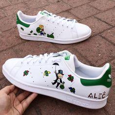 Behind The Scenes By dpcustomsmx Custom Sneakers, Custom Shoes, White Sneakers, Painted Sneakers, Painted Shoes, Hype Shoes, Men's Shoes, Kawaii Shoes, Nike Air Shoes