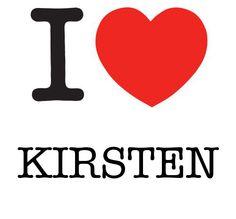 I Heart Kirsten #love #heart
