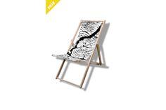 RetroGanic Sun Chair - Log  by PhotoGanic Organic Fabrics