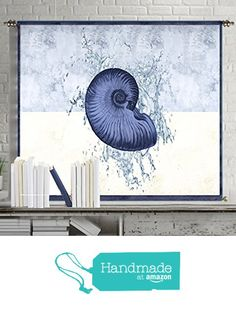 Seashells decor wall art prints abstract painting canvas poster large art blue tapestry wall hanging home decorations for living room wall decor bedroom from The Story Of The Fall https://www.amazon.com/dp/B01D1VY14K/ref=hnd_sw_r_pi_dp_.WkGyb8T4PK25 #handmadeatamazon