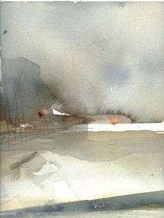 Lena Amstrand, Swedish watercolor artist — Art by Yevgenia Watts Watercolor Artists, Watercolor Techniques, Watercolor Landscape, Abstract Watercolor, Watercolor And Ink, Watercolor Illustration, Landscape Art, Landscape Paintings, Watercolor Paintings