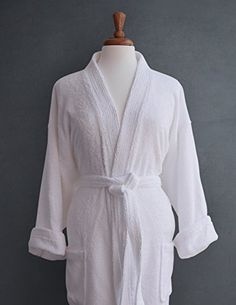 Luxor Linens Luxury Egyptian Cotton Unisex Terry Spa Robe – White with  Custom Monogramming 4cd3bd2b3