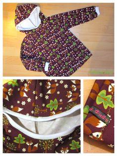 Füchse Hoodie Kapuzenkragen Pullover (Schnittmuster Ottobre Design 3/2014)