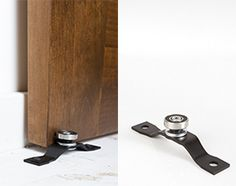 Floor mount roller guide is placed in front of your door. It prevents the natural swaying-out at the bottom of your door as it hangs and …