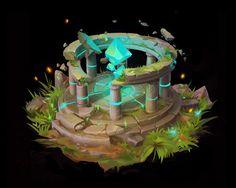 fantasy environment, Sasha Nepogoda on ArtStation at https://www.artstation.com/artwork/kBz5x