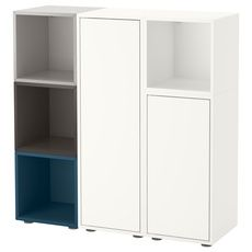 EKET Storage combination with feet, multicolor 2 - multicolor 2 - IKEA Ikea Shelving Unit, Storage Shelves, Tall Cabinet Storage, Locker Storage, Playroom Furniture, Living Furniture, Ikea Baby Room, Ikea Office Hack, Ikea Eket