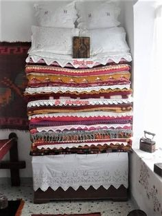 Greek History, Once Upon A Time, Embroidery, Quilts, Blanket, Bed, Greek Costumes, Home, Folklore