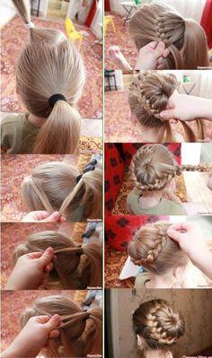 Hair Styles For School Fur Frisur ideen Ballet Hairstyles, Flower Girl Hairstyles, Fancy Hairstyles, Little Girl Hairstyles, Braided Hairstyles, Pinterest Hair, Wedding Hair Down, Toddler Hair, Hair Dos