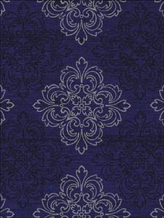 Find a medallion stencil, paint wall royal blue, stencil medallions in white and dark blue.