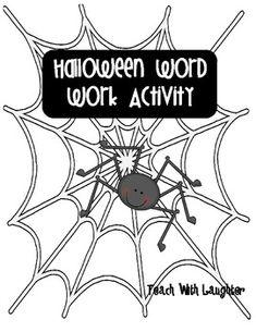 Halloween Word Work {Freebie}