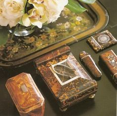 Tortoiseshell boxes from Charles Faudrée