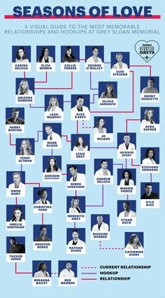 Our visual guide to the most memorable relationships (and hookups) on 'Grey's Anatomy' - Entertainment Earth: Home of Action Figures: Toys, Collectibles . Frases Greys Anatomy, Greys Anatomy Funny, Greys Anatomy Couples, Greys Anatomy Cast, Grey Anatomy Quotes, Greys Anatomy Workout, Anatomy Humor, Greys Anatomy Episodes, Greys Anatomy Characters