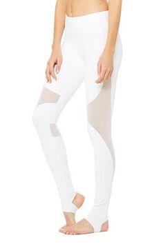 Alo Yoga Coast Legging - White/White