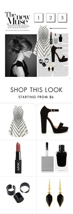 """Black and white"" by zoe-4-l ❤ liked on Polyvore featuring Halston Heritage, Givenchy and Isabel Marant"