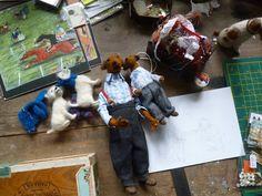 Domenica More Gordon - needle-felted dolls