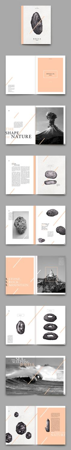 R O C C A stories / magazine layout design  Bárbaro, Á., n.d., 'Diseño editorial', Pinterest, viewed 16 August 2015,