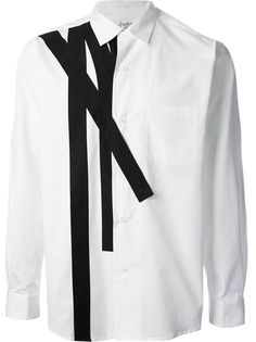 Rip the shoulder seam and sew some tie strips in similar pattern to revamp a plain button up (Diy Ropa Hombre) Yohji Yamamoto, Jacket Style, Shirt Style, Chemise Fashion, Rare Clothing, Mens Designer Shirts, Stylish Mens Fashion, Fashion Details, Fashion Design
