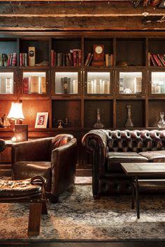 Pub Design, Bar Interior Design, Design Case, Whiskey Room, Whiskey Lounge, Whisky Bar, Cigar Room, Man Cave Home Bar, Leather Furniture