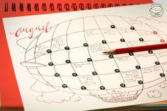 2016 DOODLE Monatsplaner 12 downloadbare Brief von SkyGoodies