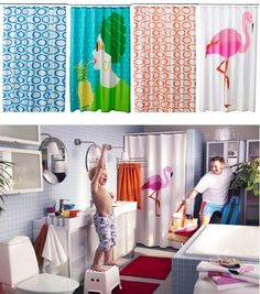 Don't forget the bathroom! Spruce it up for summer with a playful SPRINGKORN shower curtain. Summer 2013