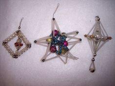 3 Vintage Czech Beaded Mercury Glass Ornaments    Collectibles, Holiday & Seasonal, Christmas: Vintage (Pre-1946)   eBay!