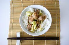 Porc sauté au chou et gingembre Wok, Menu, Pork Schnitzel, Meat, Chinese Cabbage, Sprouts, Menu Board Design