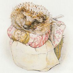 Beatrix Potter- from 'The Tale of Mrs. Tiggy- Winkle', 1905