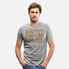 Real Man Cats Männer Premium T-Shirt T Shirt Designs, Wild Deer, Cat Stickers, Real Man, Hunting, Business, Cats, Mens Tops, Fashion