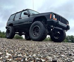 Blacked out #XJOFFROAD Jeep owner: @southernoffroad 30k-Help us get to 30000… …