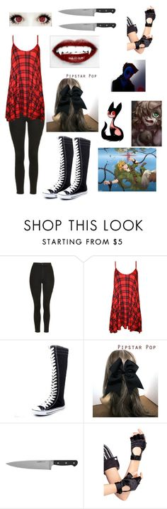 """""""Creepypasta OC"""" by ccxcool ❤ liked on Polyvore featuring Topshop, WearAll, West Blvd and Leg Avenue"""